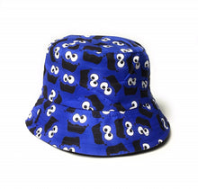 Blue Monster cartoon style print Festival holiday sun bucket hat