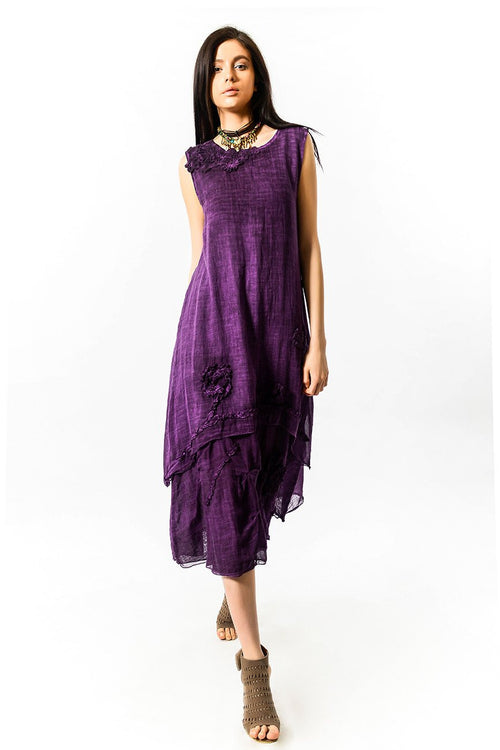 Bohemian Dress with Ruffles