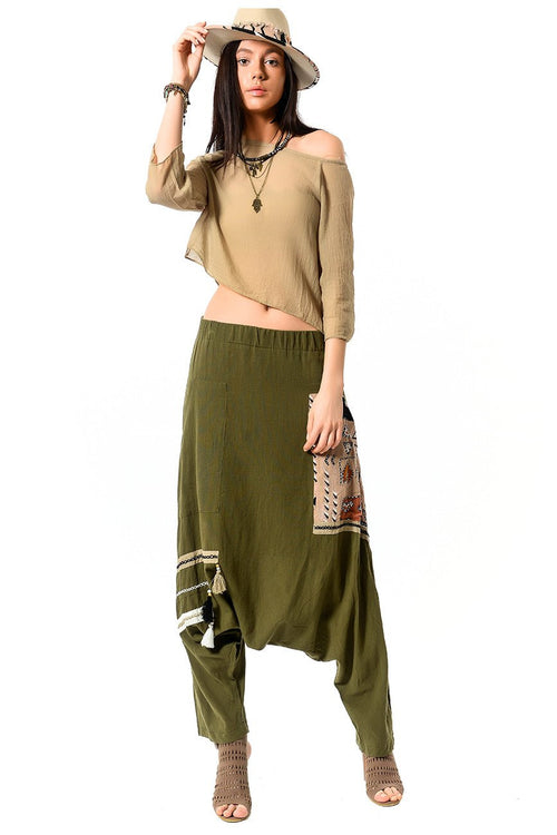 Harem Pants with Tassels