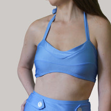 LUCY HALTER TOP IN PERIWINKLE