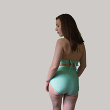 HIGH WAIST BASIC BIKINI BOTTOM IN SEAFOAM