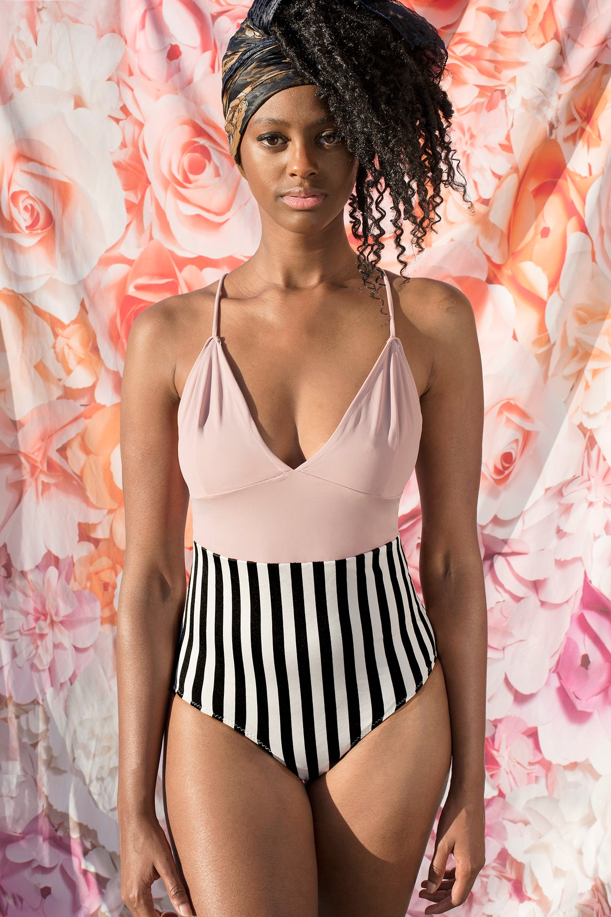 NELL, Rose and Striped One Piece PRE-ORDER