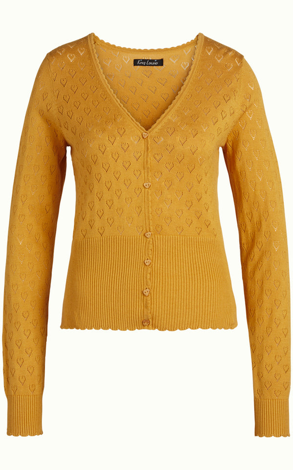 King Louie - Cardigan V Hals Honey Yellow Geel Vestje