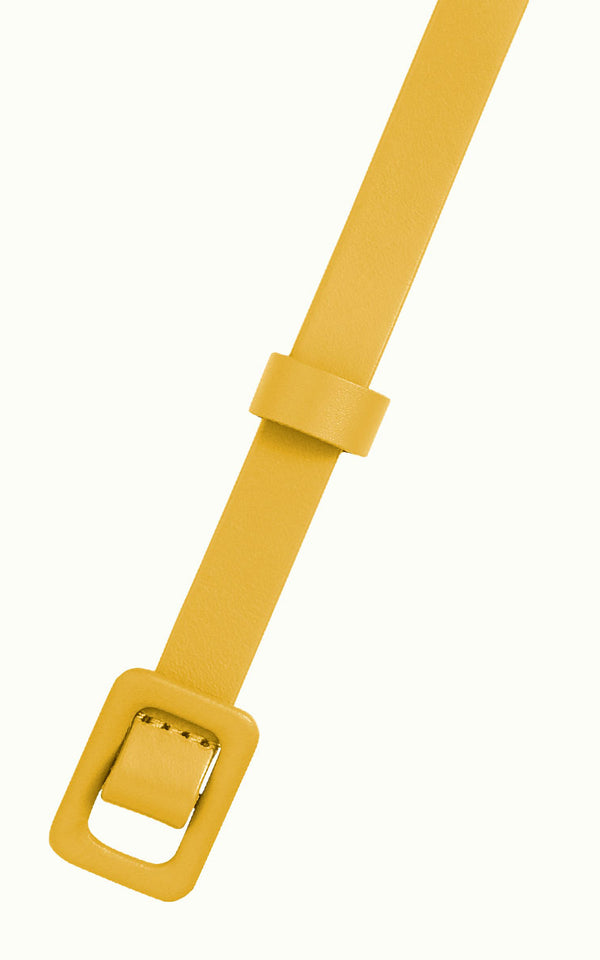 King Louie - Leather Covered Belt Curry Yellow