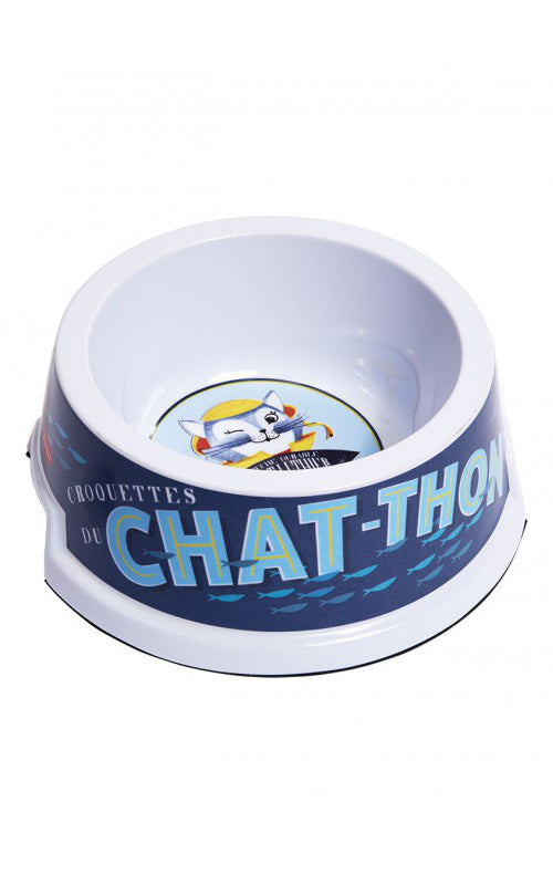 Natives - Cats Bowl Chat Thon I Retro Voederbakje voor Katten met antislip