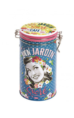 Natives - Coffee Storage Tin Mon Jardin Sucré I Retro Opbergdoos voor Koffie