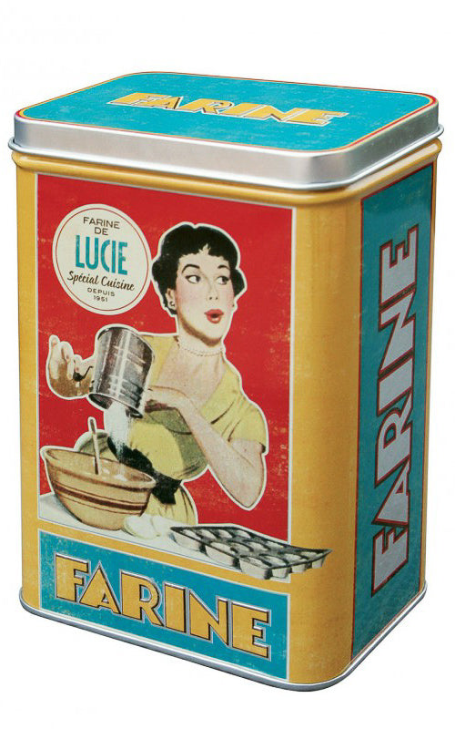 Natives Déco - Storage Tins Housewives / Retro Blikken 50s Style