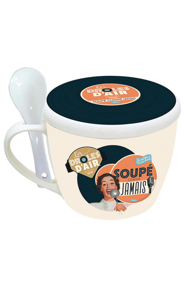 Natives - Soup Bowl Les Drôles d'Airs I Retro Soep Kommetje Tas