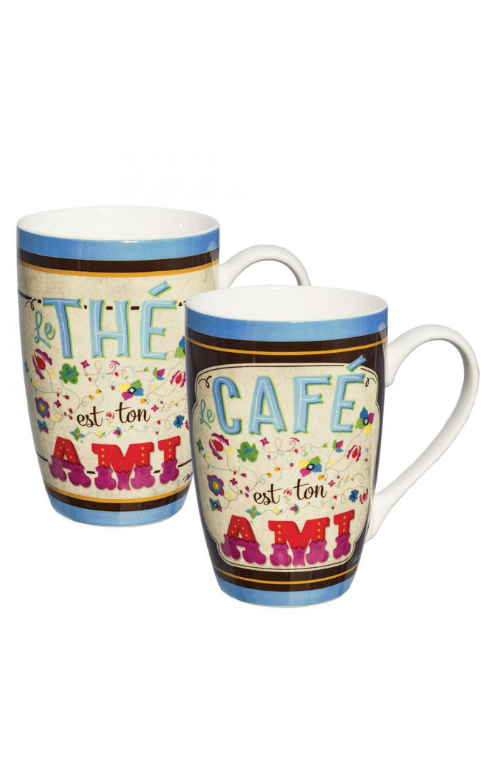 Natives - Set of 2 mugs Ton ami I Retro Koffietas