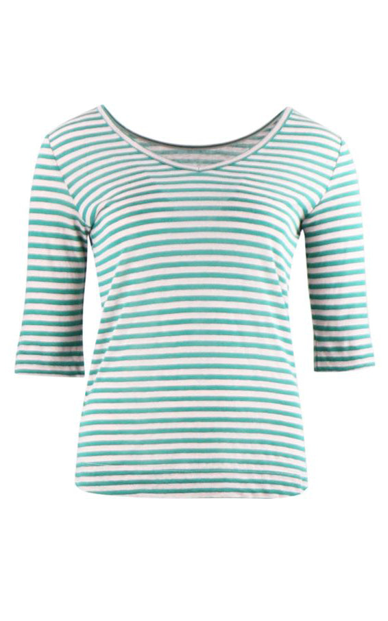 Zilch - Top Reversible Stripes Emerald