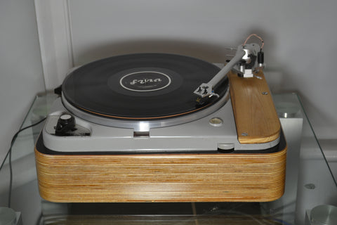 Thorens TD124 Mk2 Audio Origami Uniarm, Goldring 1042 and Layered Plywood Plinth