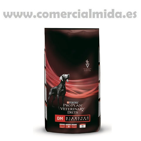Pienso PURINA PRO PLAN VETERINARY DIETS CANINE DM 3Kg para perros con diabetes