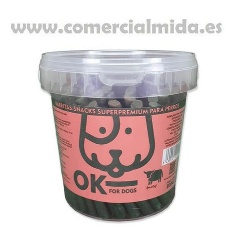 OK FOR DOGS Barritas Buey y Arroz 800g