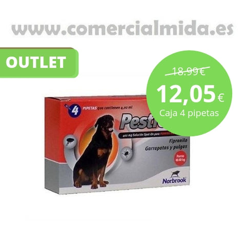 4 Pipetas Pestigon 40-60 kg. Outlet