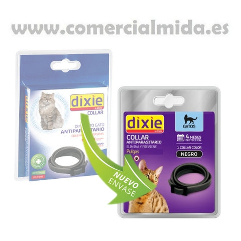 Collar antiparasitario DIXIE para gatos anti pulgas