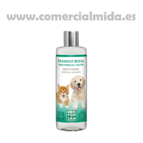 Enjuague Bucal para Perros y Gatos Menforsan Anti Sarro, Placa y Halitosis