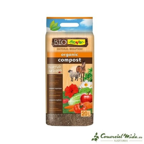Flower Substrato compost orgánico (20L)
