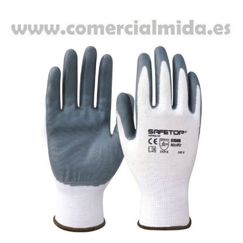2 Guantes Safetop Nitri Fit G156B