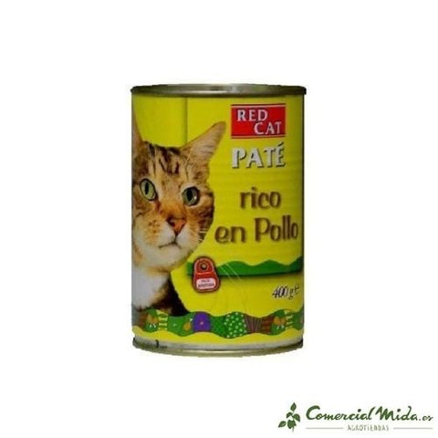 Lata de paté RED CAT 400g rico en POLLO para gatos