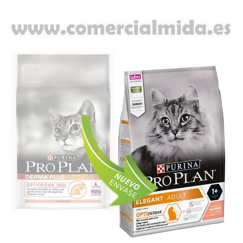 Purina Pro Plan Optiderma Elegant Adult Salmón