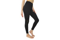 YOBABY APPAREL Double Mesh Bands Yoga Leggings (BLACK) - Yobaby Apparel
