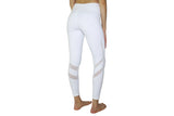 YOBABY APPAREL Double Mesh Bands Yoga Leggings (WHITE) - Yobaby Apparel