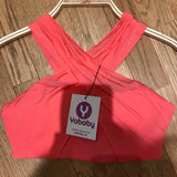 YOBABY APPAREL- Criss Cross Bralette (Coral Pink LIMITED EDITION) - Yobaby Apparel