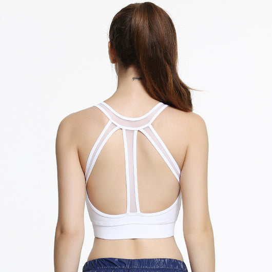 Backless Mesh Band Bralette - White - Yobaby Apparel