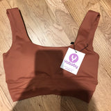 YOBABY APPAREL - THE HEAVENLY yoga crop top - BABE CORAL ( 2019 NEW) - Yobaby Apparel