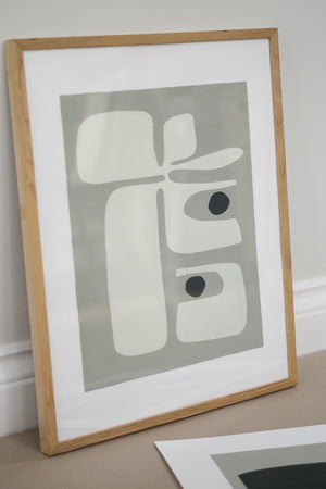 Lichen III and Natural Oak Frame