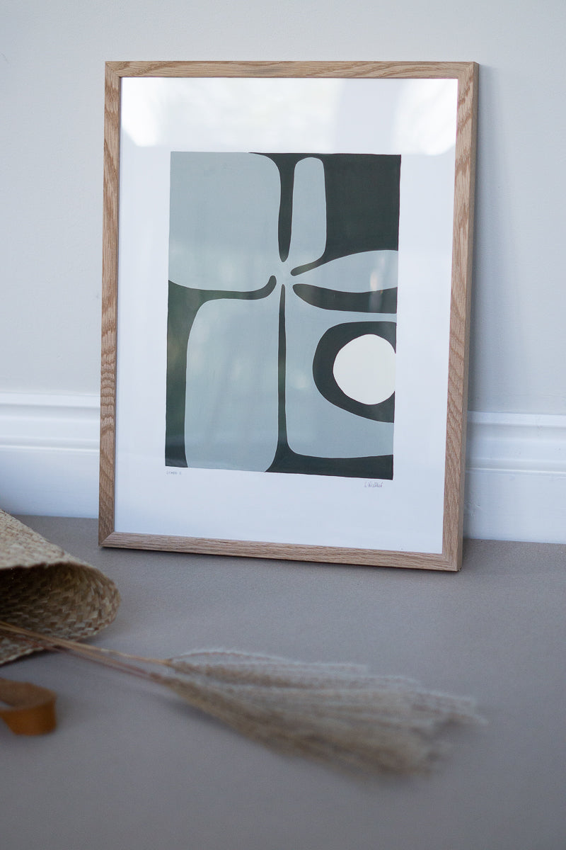 Lichen II & Natural Oak Frame