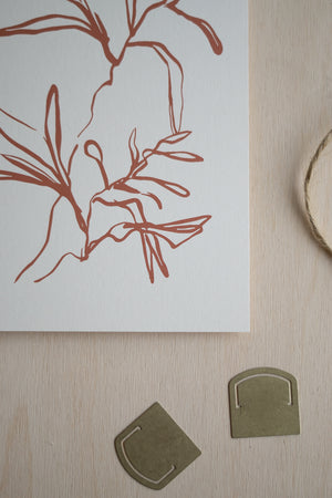 Plant Study Art Card (Rust)