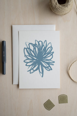 Plant Study Art Card (Teal)