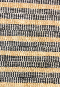 Hemp & Wool HandWoven Rug_Stripe - HummingHaus