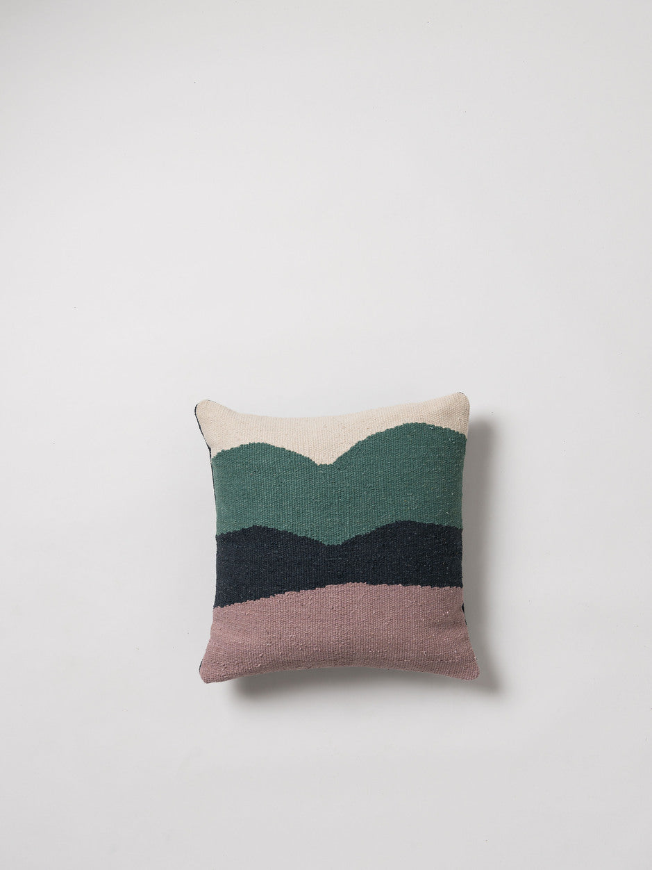 COTTON HANDWOVEN CUSHION COVER-WAVE - HummingHaus