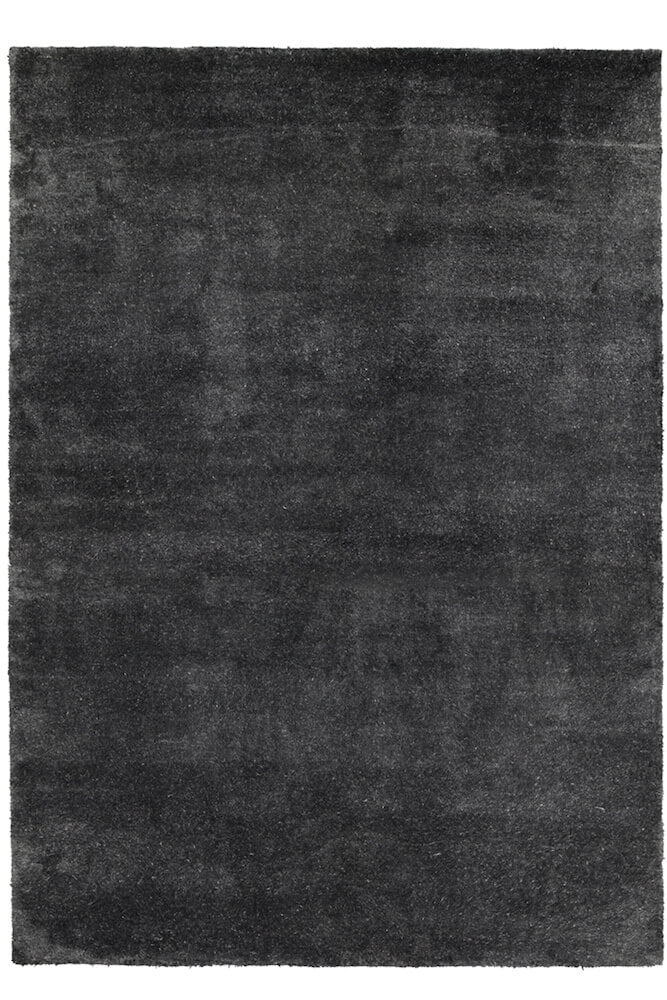 Bamboo Silk Hand Knotted Carpet _ Natural Black