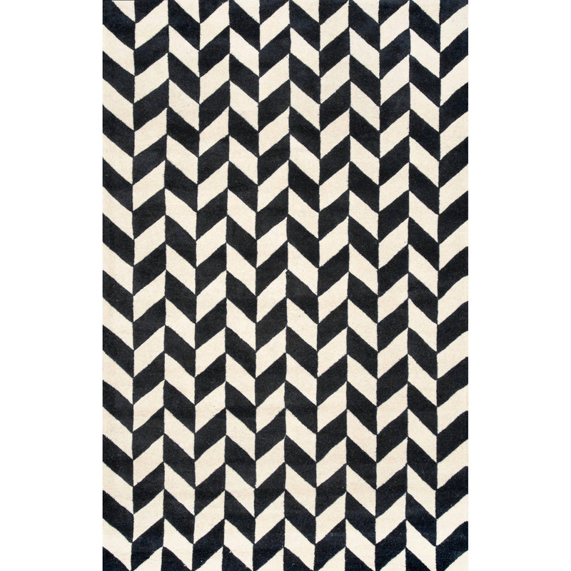 Wool HandTufted Carpet _ Axel Chevron