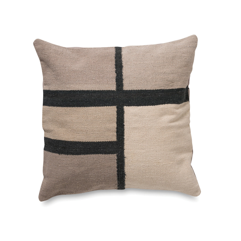COTTON HANDWOVEN CUSHION COVER-STRIPE BOX - HummingHaus