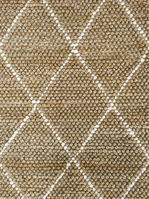 Hemp Hand Woven Rug: Loop Beni - HummingHaus