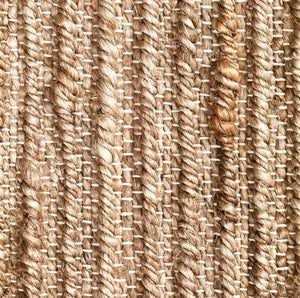 Hemp Handwoven Rug_Natural Ribbon - HummingHaus