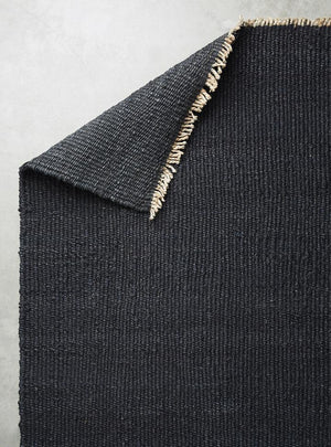 Hemp Handwoven Rug_ Panja Black