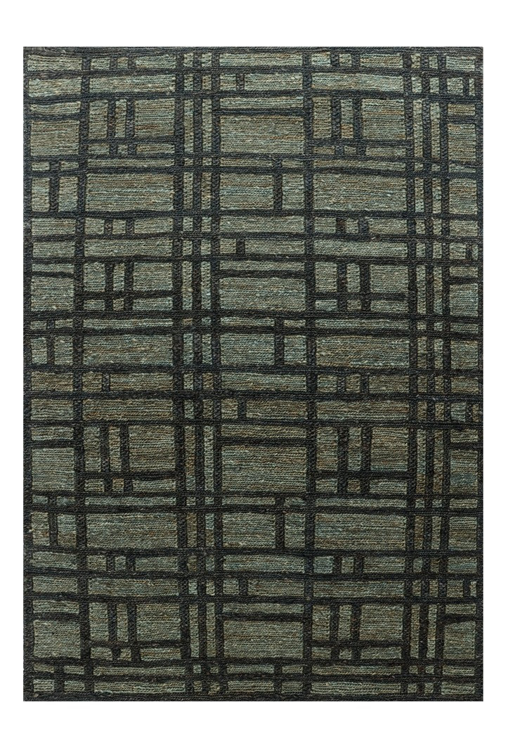 Hemp Hand Knotted Moroccan Carpet - Maze