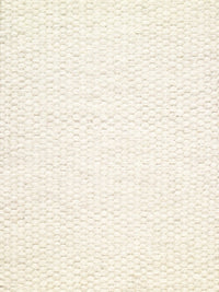 Woolen Handwoven Dhurry_Plain White - HummingHaus