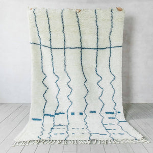 Wool Hand Knotted Moroccan Carpet_Sicily Blue
