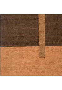 Hemp & Wool Hand knotted Carpet_Linear Brown