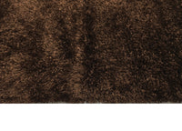 Banana Silk Handwoven Rug_Long Pile Sagi:Brown - HummingHaus
