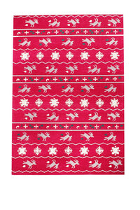 Chrisl Wool Hand Woven Rug-HummingHaus