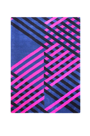 Dimensional Stripe Wool Hand Tufted