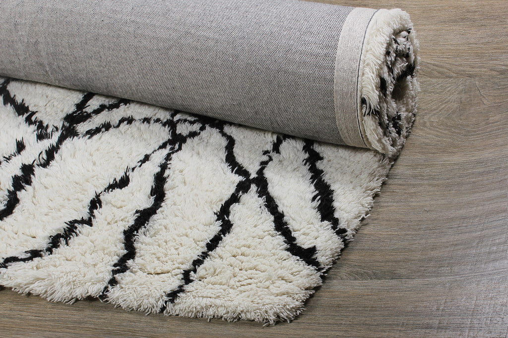 Reverse Netz Wool hand Tufted