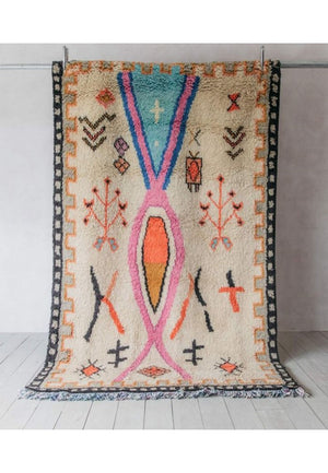 Wool HandKnotted Carpet_Moroccan Colorful